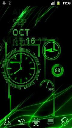 Neon Clock Live