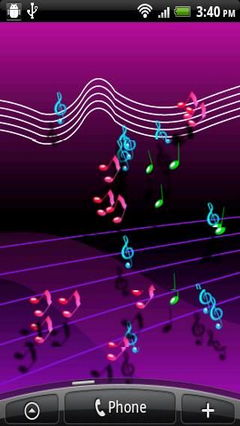 Live Musical Note Wall