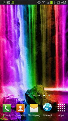 Color Rainbow Waterfall