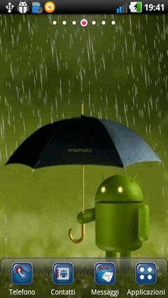 Android Under Rain Lwp