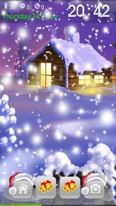 Christmas falling snow