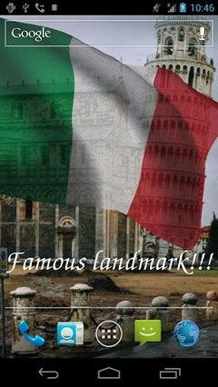 3D Italy Flag