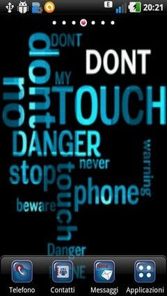 Don't Touch My Phone Lwp