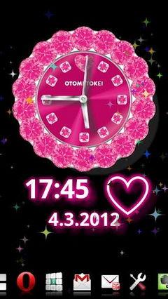 Free CUTE Qlock Pink Diamond
