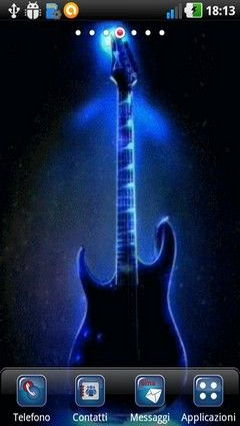 Cool Blue Guitar Lwp
