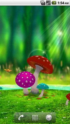 3D Mushroom Garden
