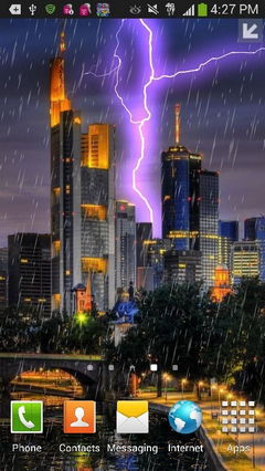 City Lightning Storm