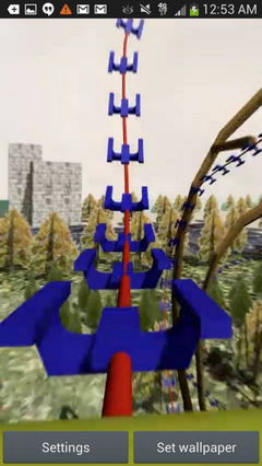3D Rocket Speed Roller Coaster