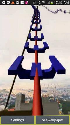 3D Rocket Speed Roller Coaster