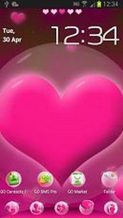 GO Launcher EX Hearts Theme