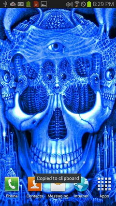 Blue Glowing Skull