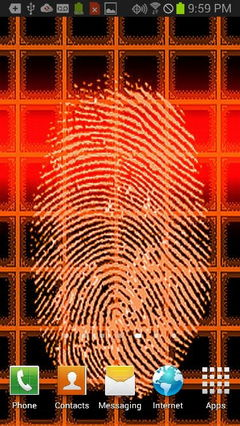 Orange Fingerprint Security Scanner