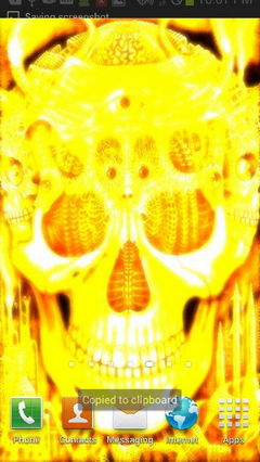 Orange Glowing Skull