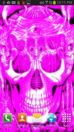 Pink Glowing Skull