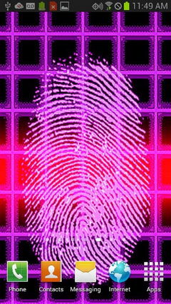 Purple Fingerprint Scanner