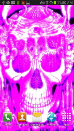 Purple Glowing Skull