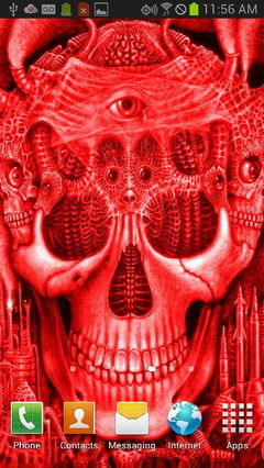 Red Glowing Skull