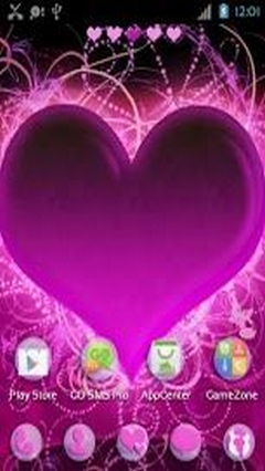 GO Launcher EX Themes Hearts