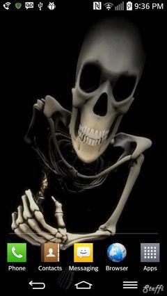 angry skeleton