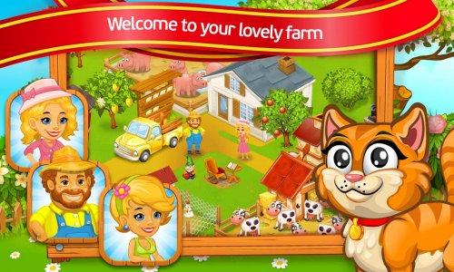 Farm Town: lovely pet on farm
