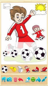 Football coloring book game