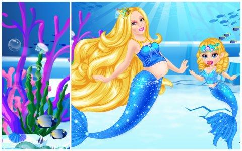 Newborn Ice Mermaid Princess