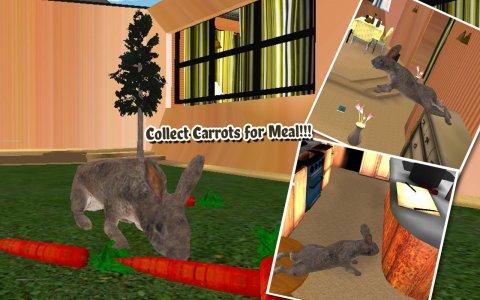 Pet Rabbit Vs Dog Attack 3D