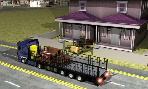 Home Shifting Transport Truck