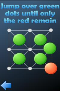 Hopping dots - logic puzzle