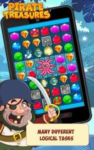 Pirate Treasures - Gems Puzzle