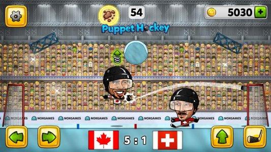Puppet Ice Hockey: Pond Head
