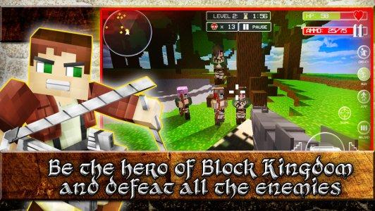 Titan Attack on Block Kingdom