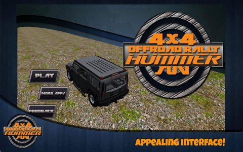 4x4 off road Rally Hummer SUV