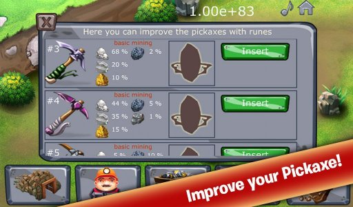 Clicker Mine Idle Tycoon - Free Mining Game Android لعبة APK