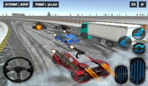 Snow Traffic Car Racing Rider