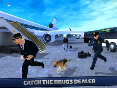 Police Dog Airport Security 3D