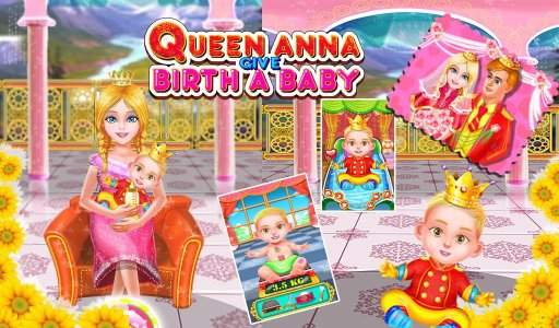 Queen Birth - Games for Girls