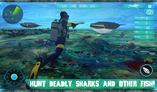 Spear Fishing Scuba Deep Dive