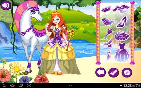 White Horse Princess Dress Up