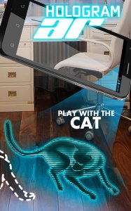 AR Hologram Cat Tom