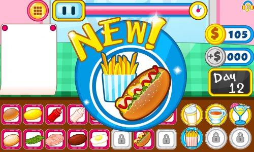 Burger shop fast food