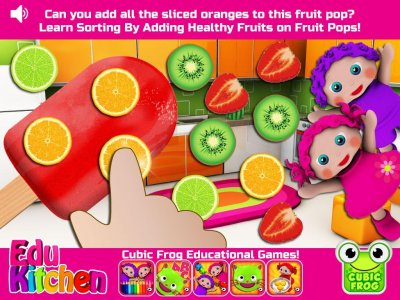 Toddler Kitchen Food Cooking Games-EduKitchen Girl