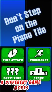 Don't Step on the Piano Tile !