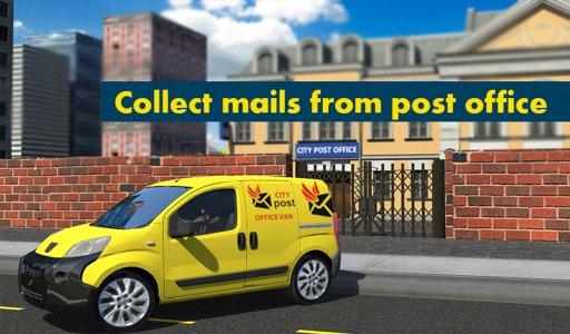 Postman Mail Delivery Van 3D
