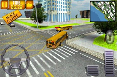 School Bus Pick Up Driving 3D