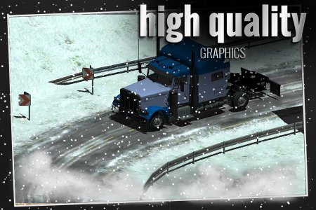 Winter Road Truck 3D