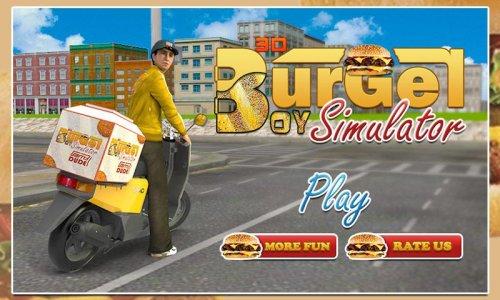 3D Burger Boy Rider Simulator