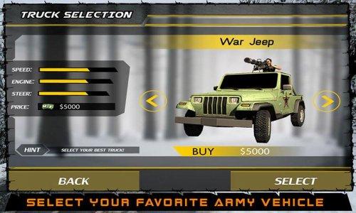Caminhão Army War Motorista