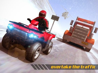 ATV Quad Bike Frozen Highway