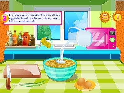 Bakso game memasak makanan